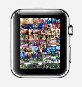 Apple Watch keeps your favorite photos on your wrist. You can zoom into photos with the Digital Crown, then swipe to scroll through them. And even choose one to display on your watch face.