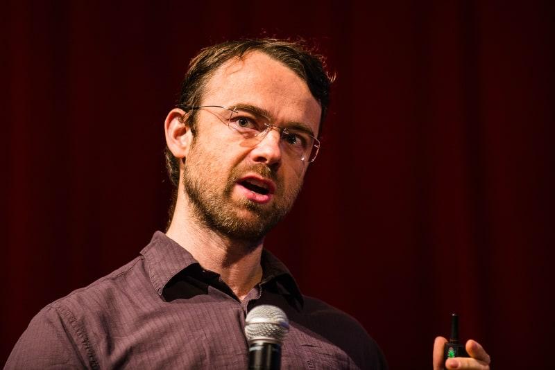 "Rob Fergus, Facebook Artificial Intelligence Lab. ""Recent Progress in Computer Vision Using Deep Learning"" ©Dan Taylor/Heisenberg Media"
