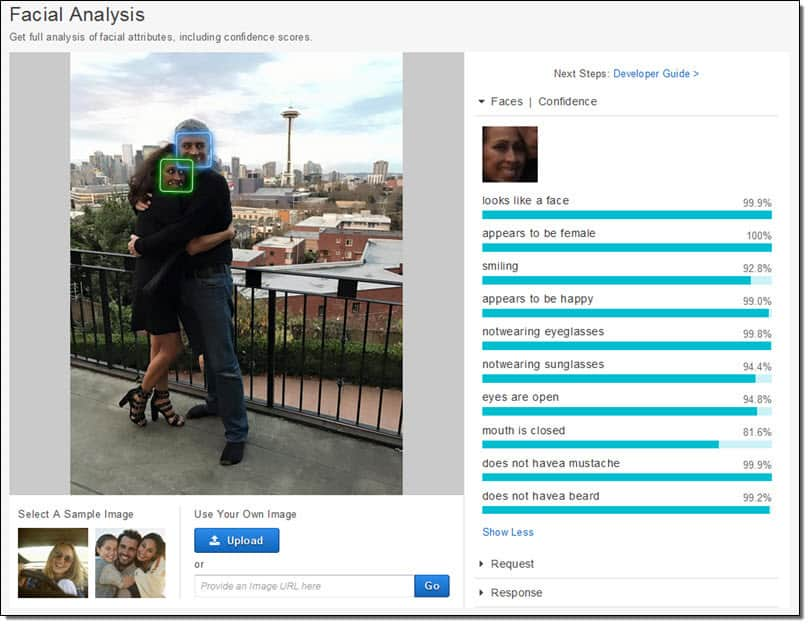 Amazon face recognition with attributes