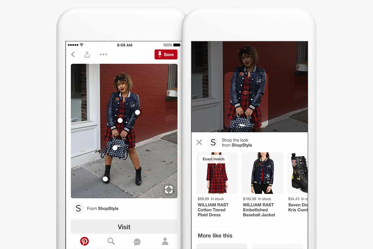 You and your friends as storefront : Pinterest's shop the look